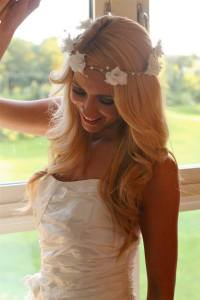 deb fanning millinery, bridal headpiece
